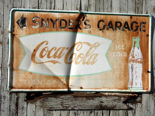 snyders garage sign