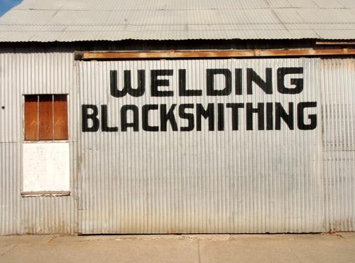 welding font