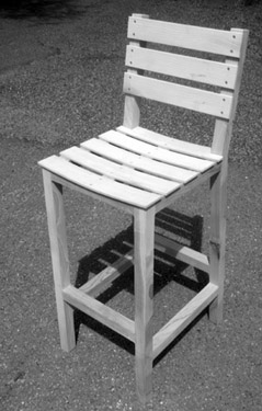 shed stool bw