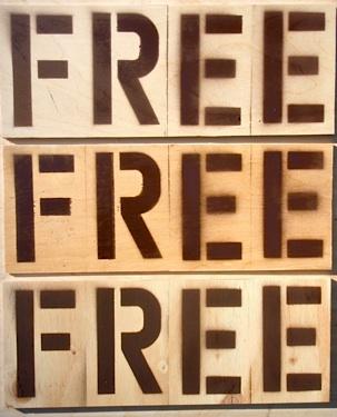 free sign stencil